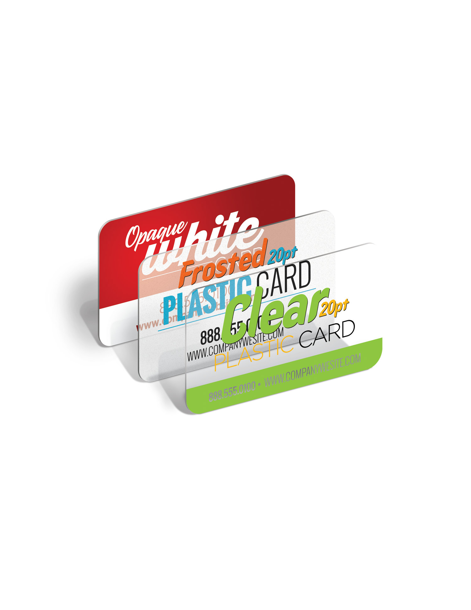 Plastic Business Cards Clear OR Frosted mytai Design